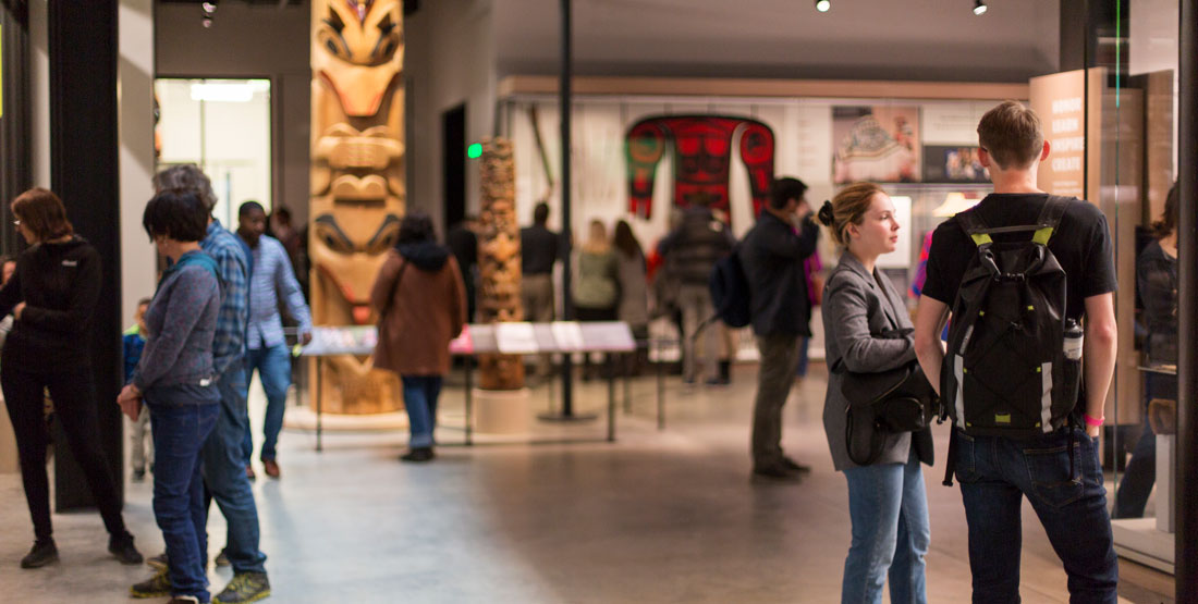 visitors in the northwest native art gallery