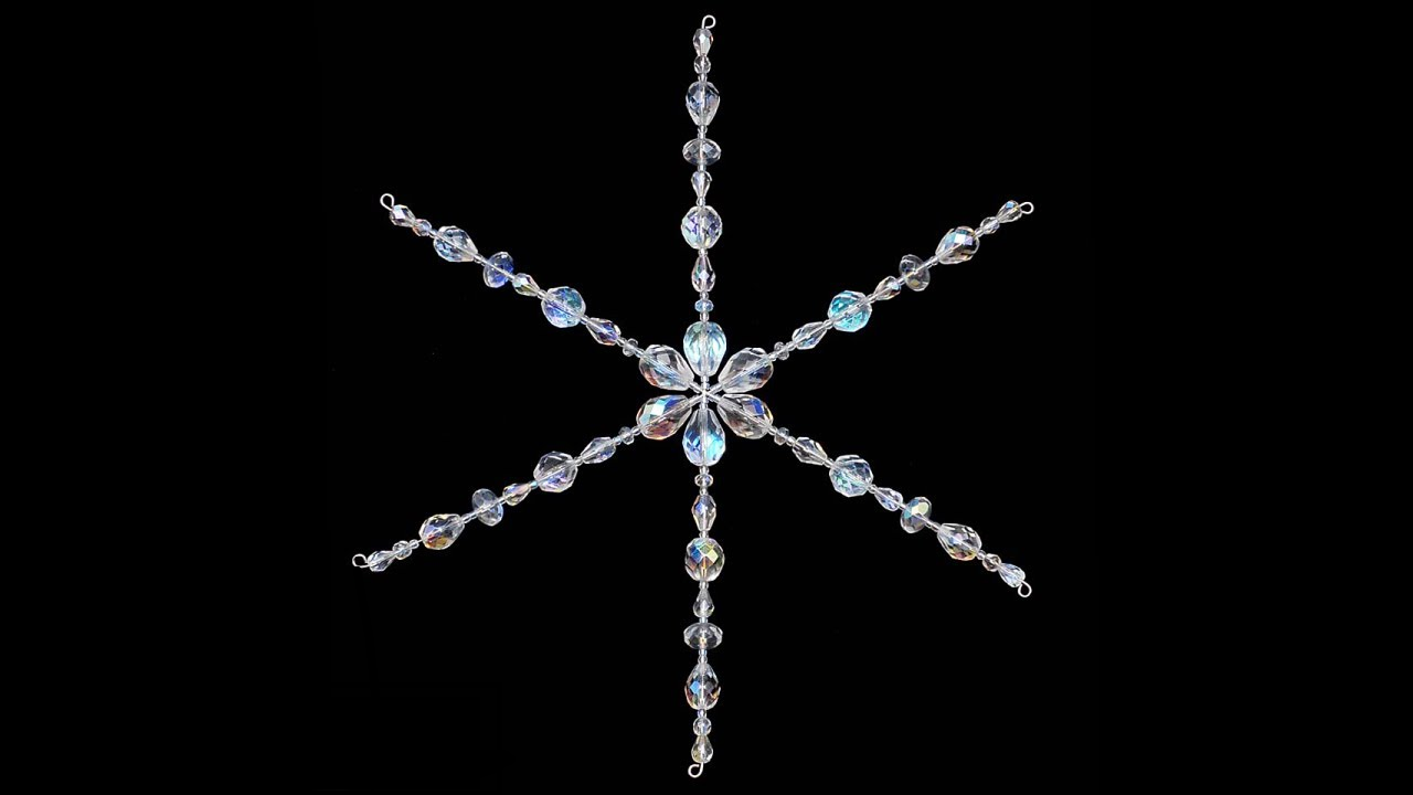 A beaded snowflake