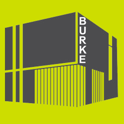 graphic of the exterior of the new burke