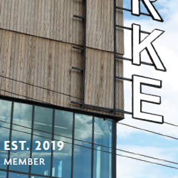 "New card featuring sign on the new burke with words ""established 2019 Member"" on the card"