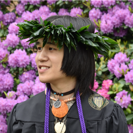 Fa'aumu Kaimana at UW Graduation 2020