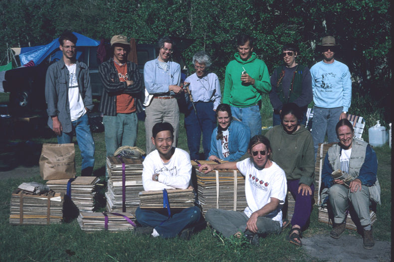 a group photo from the first foray in 1996