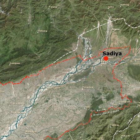 map of sadiya