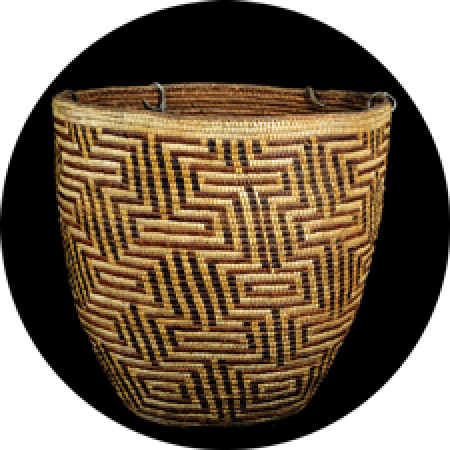 close up of a cowlitz basket