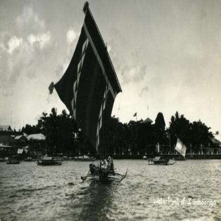 A historic photo of a sailing water vessel
