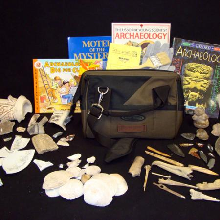 contents of the archaeology box