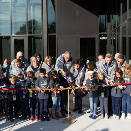 ribbon cutting participants